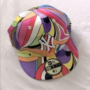 New Era NY Rainbow snap back hat